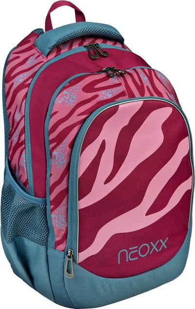 neoxx Schulrucksack »Fly, Berry Vibes«, aus recycelten PET-Flaschen