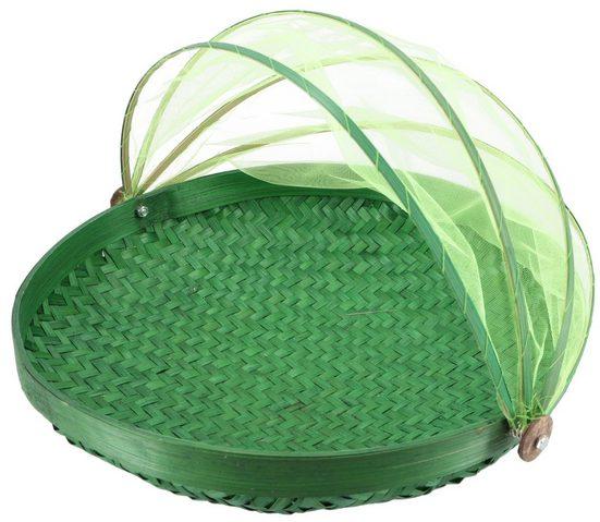 Guru-Shop Dekoobjekt »Fliegenschutz Obstkorb in 3 Größen - grün«