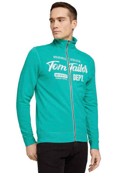 TOM TAILOR Sweatjacke mit Markenprint