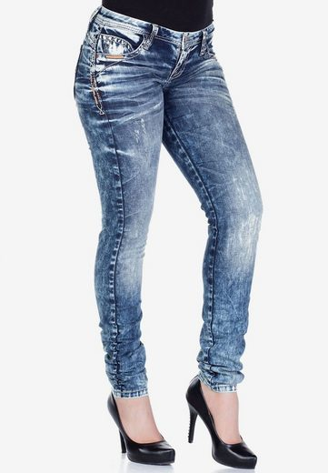 Cipo & Baxx Slim-fit-Jeans im modernen Used-Look in Straight Fit