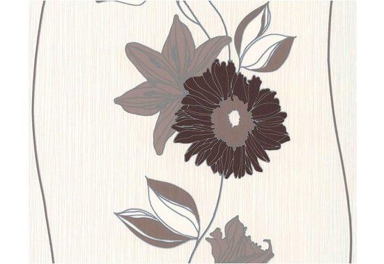Daniel Hechter Vliestapete »Daniel Hechter floral«, glatt, abstrakt, floral, geblümt, gestreift, (1 St), glatt