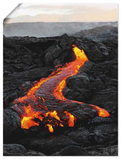 Artland Wandbild »Hawaii - Lavastrom am Vulkan Kilauea«, Amerika (1 Stück), in vielen Größen & Produktarten - Alubild / Outdoorbild für den Außenbereich, Leinwandbild, Poster, Wandaufkleber / Wandtattoo auch für Badezimmer geeignet