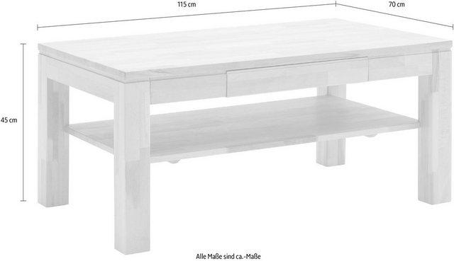 Wohnzimmertische - MCA furniture Couchtisch, Massivholztisch mit Ablage  - Onlineshop OTTO