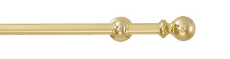 Gardinenstange »Andrea Kugel lang«, GARESA, Ø 20 mm, 1-läufig, Wunschmaßlänge, inkl. je10 cm einen Ring + FH, Träger, Endknöpfe