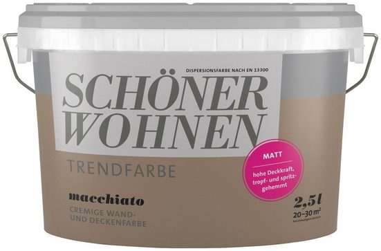 SCHÖNER WOHNEN-Kollektion Wand- und Deckenfarbe »Trendfarbe Macchiato, matt«