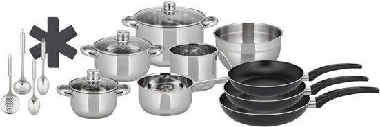 Elo Basic Topf-Set »Prima Cucina«, Edelstahl 18/10, (Set, 15-tlg), Induktion