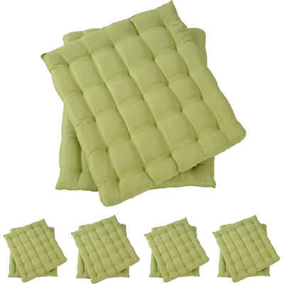 MCW Sitzkissen »Florida-10«, 10-Set, Leicht glänzende Oberfläche, Als Sitz- oder Rückenpolster zu benutzen, 25 Punktsteppung