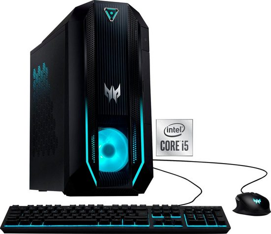 Acer Predator Orion 3000 (PO3-620) Gaming-PC (Intel® Core i5 10400F, GTX 1650, 16 GB RAM, 1000 GB HDD, 128 GB SSD, Luftkühlung)
