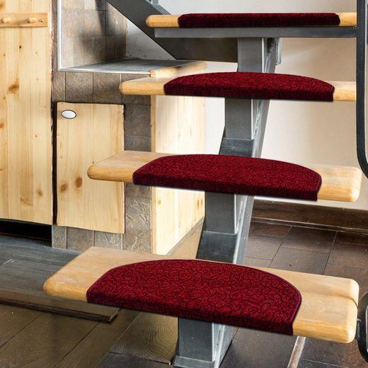Stufenmatte »Tropical«, Kubus, Halbrund, Höhe 7 mm, Velours-Struktur