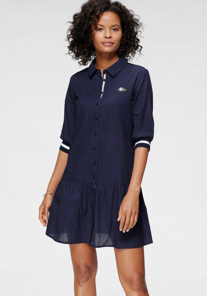 tom tailor polo team -  Hemdblusenkleid mit modischen Rippenbündchen am Armabschluss