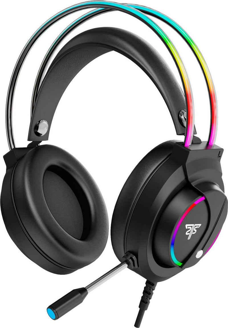 Hyrican »Striker Halo ST-GH707 Headset, schwarz, RGB-Beleuchtung, USB, 3,5 mm Klinke, Over Ear« Gaming-Headset