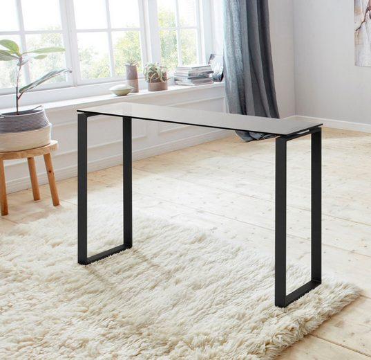andas Konsolentisch »Karolina«, mit einer schönen Glastischplatte und einem Metallgestell, Höhe 76 cm