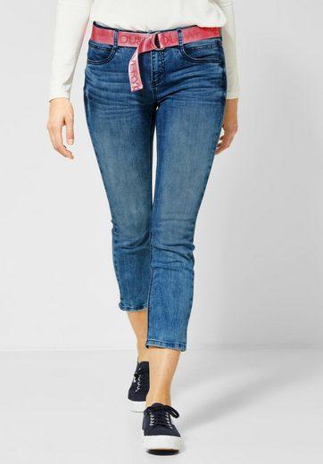 STREET ONE Slim-fit-Jeans mit Gürtel