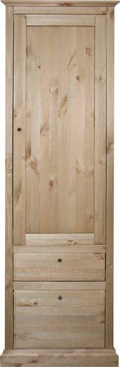 Home affaire Garderobenschrank »Molly« aus Kiefer massiv, mit ausziehbare Kleiderstange