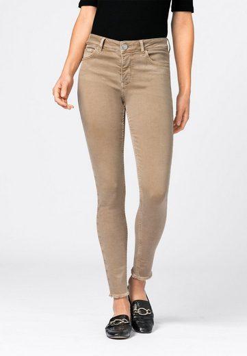 HALLHUBER Slim-fit-Jeans »MIA mit Fransensaum«