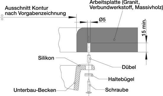 Blanco Granitspüle »SUBLINE 500-U«, rechteckig
