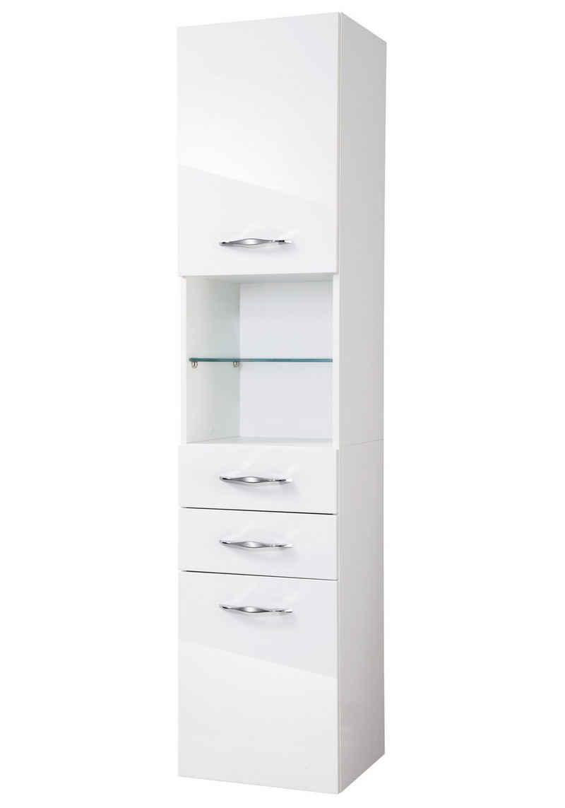 FACKELMANN Hochschrank »Sceno« Breite 40 cm, mit beleuchteten Glasböden