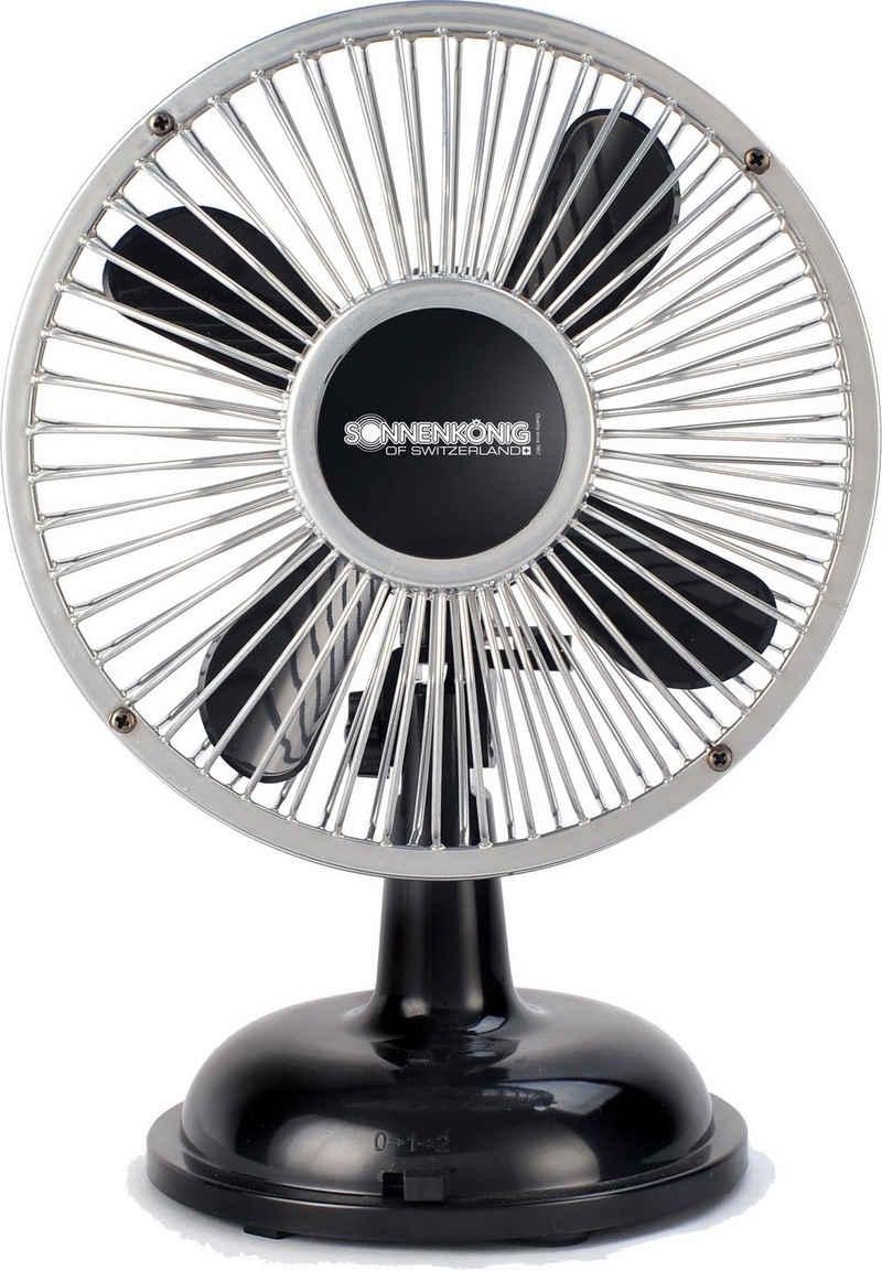 Sonnenkönig Tischventilator Retro Fan schwarz