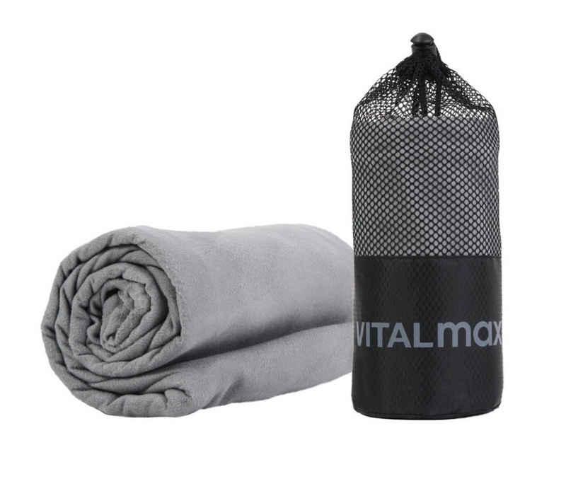 VITALmaxx Sporthandtuch »Mikrofaser Handtuch 130 x 80 cm« (1-St), kompakt, reißfest, besonders saugfähige, für Sport Fitness Reise Backpacking