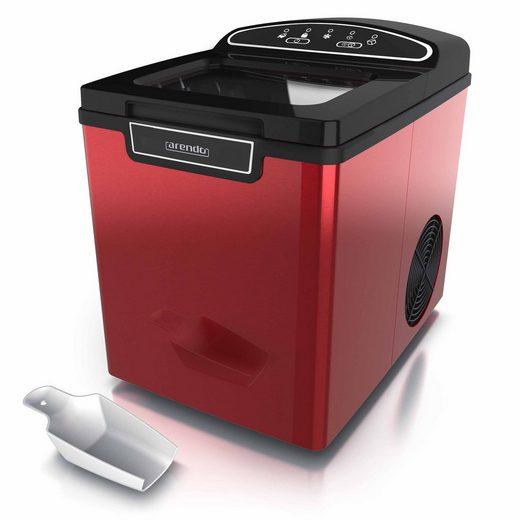 Arendo Eiswürfelmaschine, Eiswürfelmaschine 105 W – 1,8 Liter Eiswürfelbereiter - 9 Eiswürfel in 8 Minuten