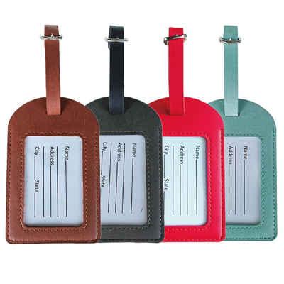 IVSO Taschenanhänger »4pcs Taschenanhänger Kofferanhänger Adressanhänger Koffer Tag« Namensschild Schulranzen Gepäck Anhänger - Reise Gepäckanhänger