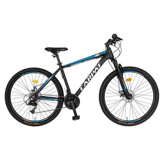 CARPAT Mountainbike »27 Zoll Mountainbike Hardtail MTB«, 21 Gang Shimano Shifter RL35 Schaltwerk, Kettenschaltung, (Mechanische Scheibenbremsen, Aluminiumrahmen), Fahrrad für Jungen, Mädchen, Herren und Damen
