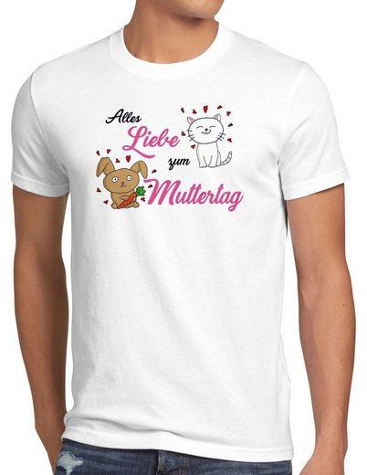 style3 Print-Shirt Herren T-Shirt Alles Liebe zum Muttertag Kinder Mutter Mama Mum Geschenk i love