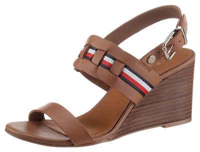 Tommy Hilfiger »TH INTERLACE MID WEDGE SANDAL« Sandalette mit modischer Flechtung