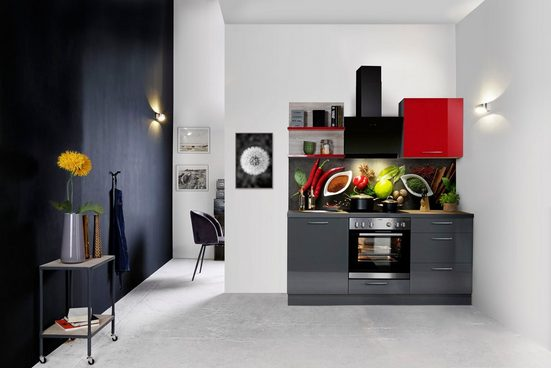 Express Küchen Küchenzeile »Jena«, ohne E-Geräte, vormontiert, mit Soft-Close-Funktion, Stellbreite 180 cm