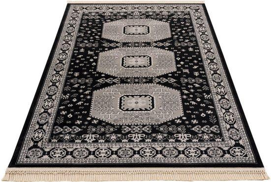 Teppich »Raika«, DELAVITA, rechteckig, Höhe 10 mm, Mit Fransen