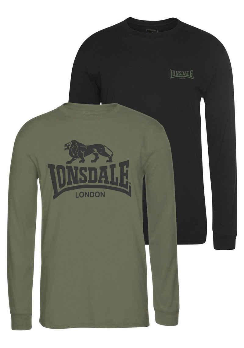 Lonsdale Langarmshirt »AYRSHIRE« (2-tlg)