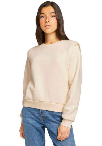 TOM TAILOR Denim Sweater mit Rippbündchen