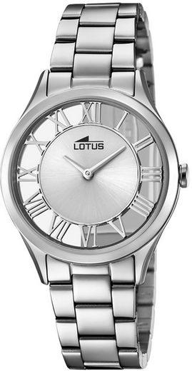 Lotus Quarzuhr »UL18395/1 Lotus Damen Uhr Fashion L18395/1«, (Analoguhr), Damen Armbanduhr rund, Edelstahlarmband silber