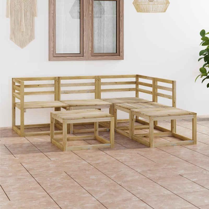 vidaXL Gartenmöbelset »vidaXL 6-tlg. Garten-Lounge-Set Grün Imprägniertes Kiefernholz«