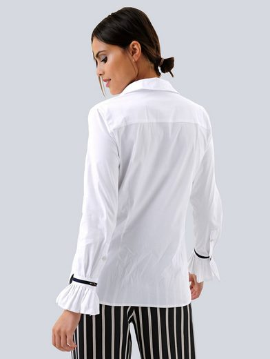 Alba Moda Bluse aus trageangenehmer querelastischer Qualität