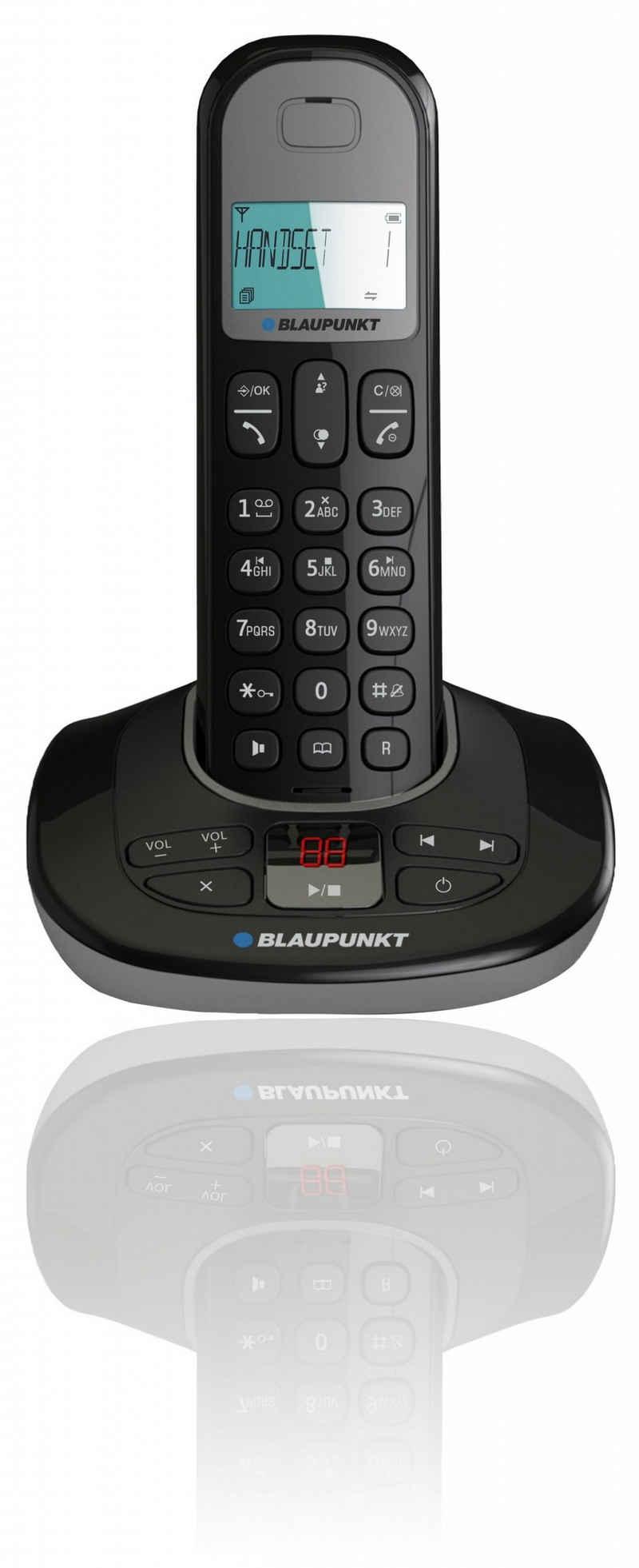 Blaupunkt »Blaupunkt Blaupunkt Option TAM Dect Telefon inkl. Anrufbeantworter« Schnurloses DECT-Telefon