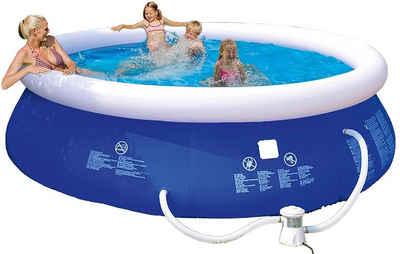 Happy People Quick-Up Pool »Quick Up Pool 300 x 76 cm rund blau« (2-tlg), Planschbecken, mit Filterpumpe, Fassungsvermögen ca. 3618 Liter
