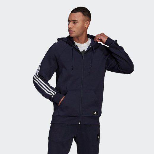 adidas Performance Sweatjacke »adidas Sportswear 3-Streifen Kapuzenjacke«