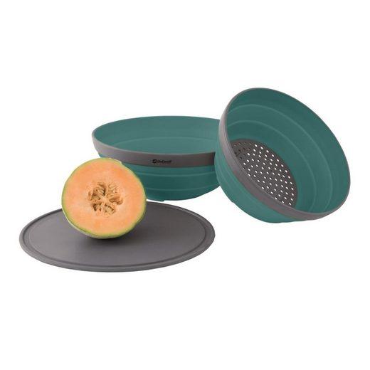 Outwell Single Geschirr-Set »Collaps Bowl & Colander Set Deep Blue«