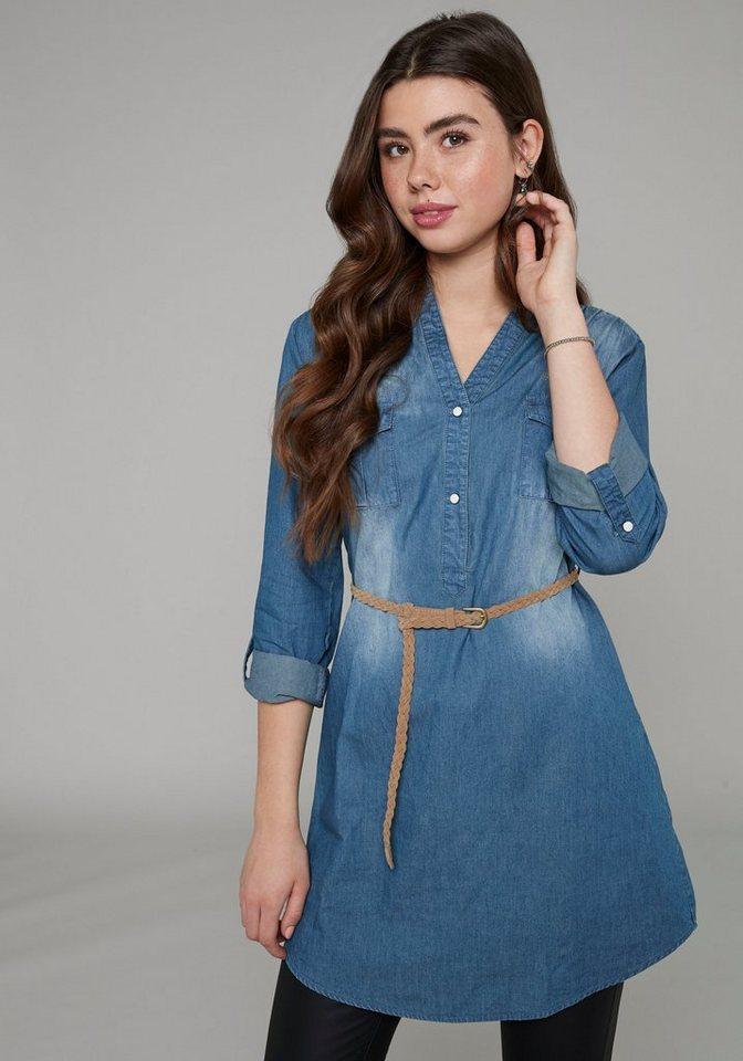 haily's -  Jeanskleid »PATTY« inklusive Gürtel