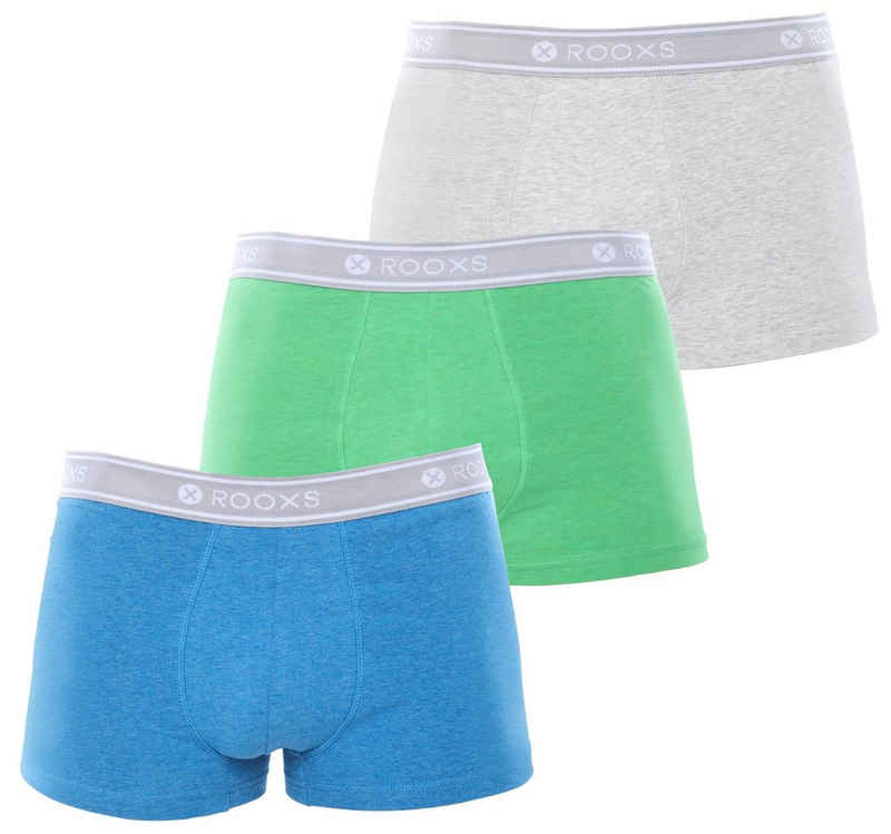 ROOXS Boxershorts »Enge Herren Unterhosen Männer Unterwäsche« (3 Stück) aus weicher Baumwolle