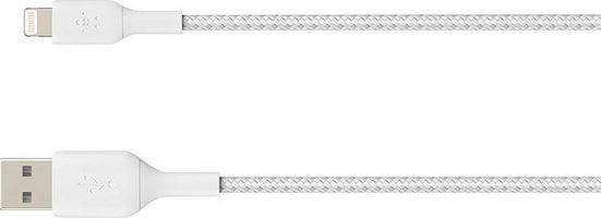 Belkin »Lightning Lade/Sync Kabel ummantelt mfi 1m« USB-Kabel, USB Typ A, Lightning (100 cm)