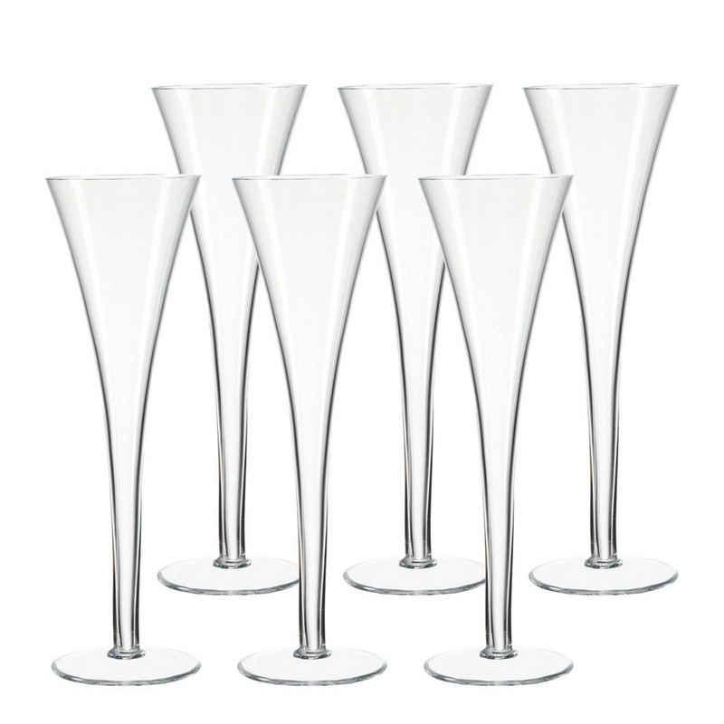 LEONARDO Champagnerglas »NIZZA Sektglas Sektflöte 6er Set«, Glas