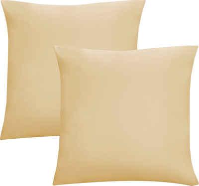 Kissenbezug »Oliver«, Biberna (2 Stück), Jersey (1 Pack mit 2 Stück), dichte, feinfädige Single-Qualität