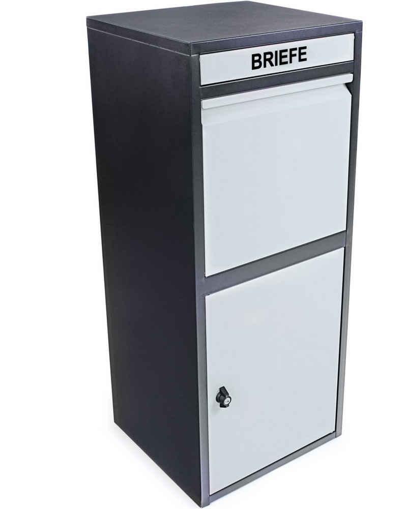 """ONDIS24 Briefkasten »Paketbox """"Korona"""" Postbox Paketsafe für Pakete, Päckchen, Warensendungen und Briefe«, abschließbar, inklusive Bodenanker, 2 Schlüssel"""