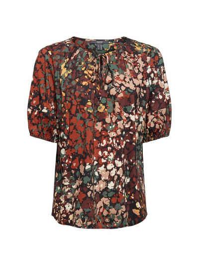 Esprit Collection Kurzarmbluse »Bluse mit Print aus Baumwoll-Mix«