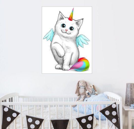 Posterlounge Wandbild, Einhorn-Katze