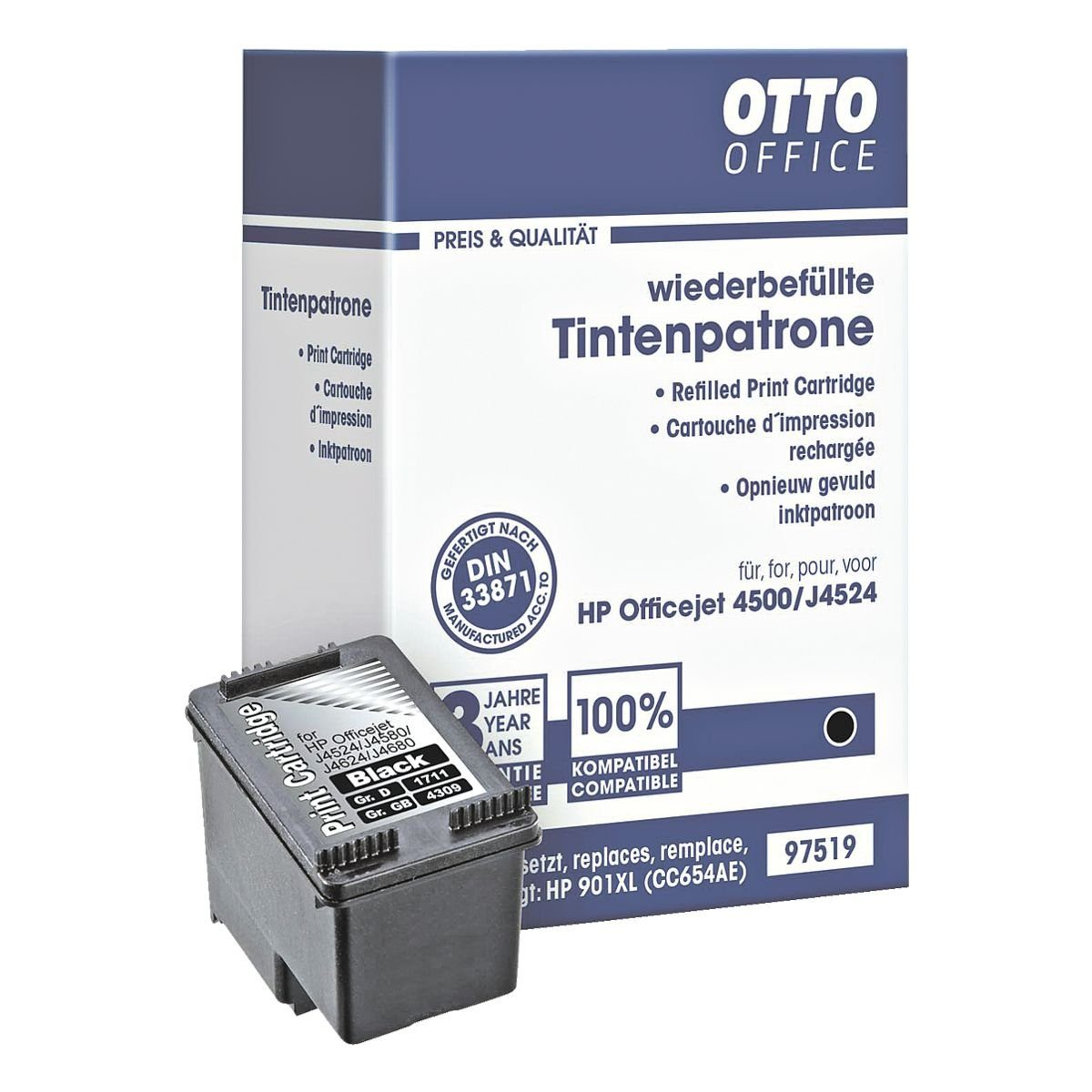 OTTO Office Tintenpatrone ersetzt HP »CC654AE« Nr. 901XL