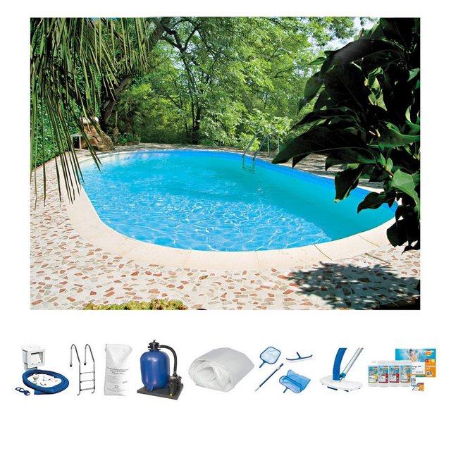 Clear Pool Set: Ovalpool Tahiti (10-tlg.)