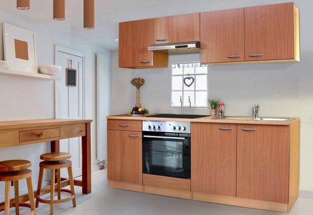 Respekta Küchenzeile mit Glaskeramik-Kochfeld Basic, Breite 210 cm